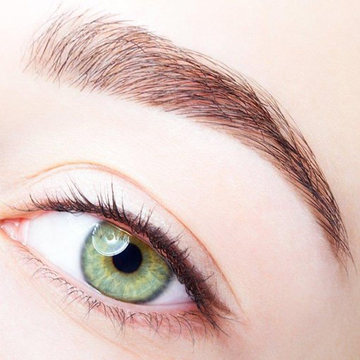 Image of Womans with permanent eye makeup