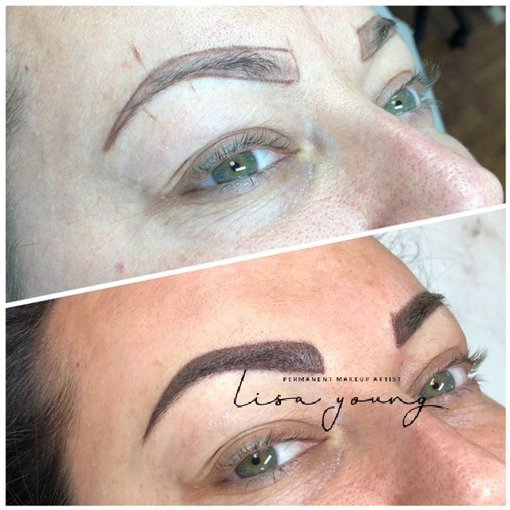 Permanent Eyebrow Makeup before and after images case study 1