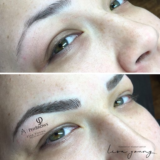 Permanent Eyebrow Makeup before and after images case study 2