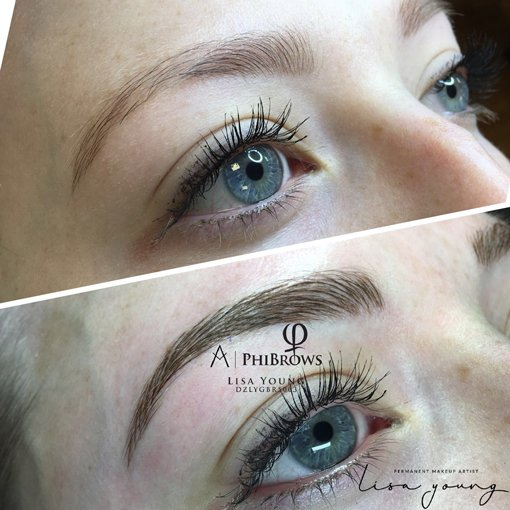 Permanent Eyebrow Makeup before and after images case study 3