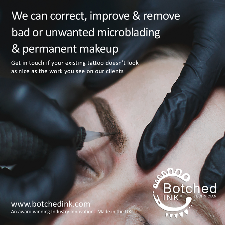 Botched Ink Logo for unwanted permanent make up